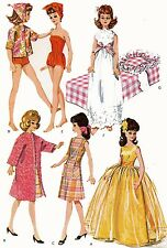 Vintage Doll Clothes PATTERN 6987 for 12 inch Tammy Miss Debutante Jan Tassy