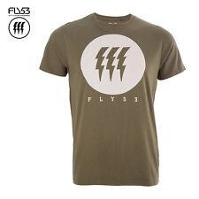 Fly53 Da Uomo Kaki FAME T Shirt Taglia Small RRP £ 18-risparmia 55% di sconto