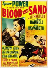 Blood and sand tyrone power 1941 cult movie film poster impression photo A4