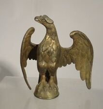 Antique Gilt Brass Bronze Eagle Civil War Federal Style Finial Flag Pole