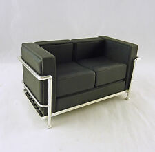 Dollhouse Miniature Reac Modern Chair Black Cube Sofa, REC033