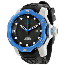 Invicta Venom Automatic Black Dial Black Silicone Mens Watch 19314