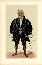 LORD MAYOR OF LONDON IRISH METHODIST ALDERMAN OF DERRY VANITY FAIR CARICATURE
