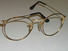 46mm VINTAGE B&L RAY BAN TORTUGA ROUND AVIATOR SUNGLASSES/EYEGLASS FRAMES ONLY