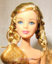 Nude fashion fever Barbie blonde hair with braids for ooak or play
