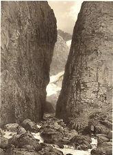 Pyrénées-Eugène Ciceri : LA RUE D'ENFER (environs de Luchon). Lithographie XIX°