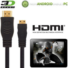 NATPC M009S 7 Capacitive, Superpad Android Tablet HDMI Mini to HDMI TV 3m Cable