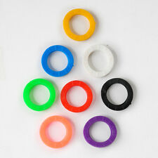 8X Bright Colors Hollow Silicone Key Caps Covers Topper Keyring With Bly Braille