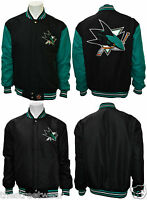 JH Design - NHL Reversible Varsity / Baseball Style Jacket - San Jose Sharks