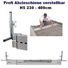 Profi Abziehschiene verstellbar H5 230 bis 400cm Schüttgutlehre Pflasterarbeiten