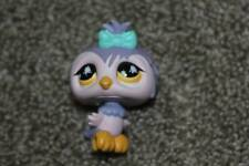 Purple Owl #924 Pink Teal Yellow Eyes LPS Toy Bird RARE HTF Littlest Pet Shop