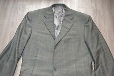 Ermenegildo Zegna Pure 100% Cashmere Forest Green Shadow Plaid EU 50 US 40 R