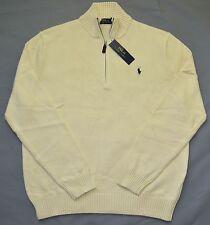New 4XLT 4XL TALL 4XT POLO RALPH LAUREN Mens half zip Sweater cream jumper ivory