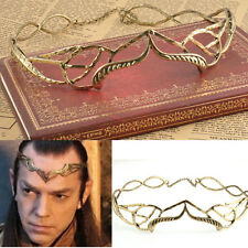 Gold ELROND LEAF CROWN Circlet Lord of the Rings Retro Lord King Elf Elven New