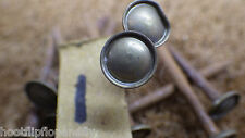"""10 x 2"""" VINTAGE RARE NOS STEEL ROUND WIRE NAILS BRASS HEAD EMPIRE PICTURE NAIL 1"""