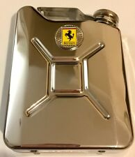 FERRARI Car Petrol Can / Jerry Can Stainless Steel 5oz Drinking Hip Flask