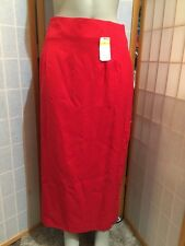 Charter Club Red Pencil Long Lined  Skirt Womens Size 14