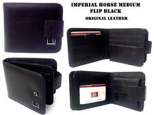 Horse Imperial Black Bifold Bilfold Gents Men's Leather Wallet Coin Purse Cards