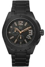 NEW GUESS GC X76009G2S MENS XXL BLACKOUT CERAMIC WATCH - 2 YEARS WARRANTY