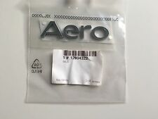 SAAB 93 9-3 CONVERTIBLE 04-10 AERO CHROME BOOT BADGE EMBLEM 12804322 NEW GENUINE
