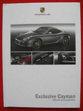 Porsche Exclusive Cayman - Ultimate Personalisation 45 page. Edition 03/09.