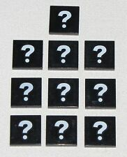 LEGO LOT OF 10 NEW 2 x 2 TILE QUESTION MARK TILES PIECES