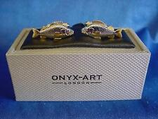 CUFFLINK SET - FISH - IDEAL ANGLING FISHING PRIZE TROPHY FISHERMANS GIFT (CK363)