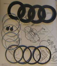 (x2) FORD Capri Mk1 Mk2 MK3  FRONT BRAKE CALIPER REPAIR Seals Kits (1968- 88)