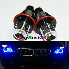 2x Blue Angel Eyes LED Lights Ring Marker Xenon HID for BMW E39 E60 E53 E65