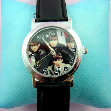 NEWEST The Beatles Man Boy Girl Child Fashion Wrist Watch Wristwatch + Pin