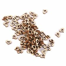 Blank Hollow Heart Wedding Decoration Wooden Embellishments DIY Crafts