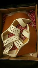 Dollhouse sexy white high wedge sandals size 8