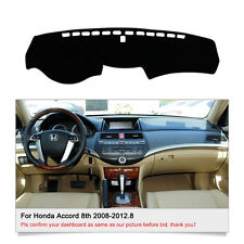 Fits For Honda Accord 8th 2008-2012.8 DashMat Dashboard Cover Dash Cover Mat