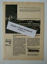 Werbeanzeige/advertisement A5: Torpedo Classic 18 Schreibmaschine 1964(28061682)