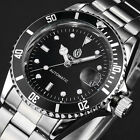 Luxury Automatic Mechanical Date Stainless Steel Black Men's Wrist Watch NEW