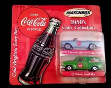 COCA COLA 1957 FJ HOLDEN AND 1957 CHEVY BELAIR DIECAST CARS BY MATCHBOX NEW