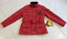 Girls Barbour International Jacket - Red -Small - Age 6-7 Years - Good Condition