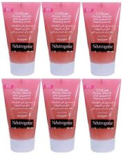 6 x 125ml Neutrogena Oil-Free Acne Face Wash Pink Grapefruit Foaming Scrub