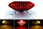 RED Motorcycle LED Tail Light w/ Turn Signals For Yamaha Cafe Racer Project