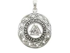 Sterling Silver Celtic Infinity Knots Runes Runic Norse Valknut Vikings Pendant