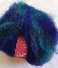 Filatura di Crosa Fancy Baffo #2 Sapphire Long-Haired Printed Mohair Blend Yarn