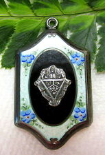 LOVELY ANTIQUE GUILLOCHE ENAMEL SORORITY LOCKET