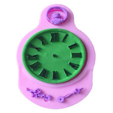 Silicone Fondant Cake Shape Clock Pocket Cupcake Decorating Steam Baking Tools