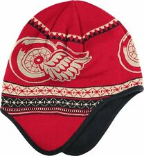 NHL Detroit Red Wings 2014 Winter Classic Reebok Dog Ear Knit Hat Brand NWT