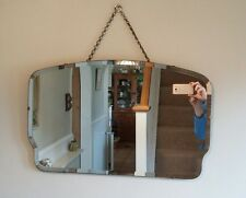 Frameless VINTAGE RETRO ART DECO Mirror 1950s 1960's Beveled edge With Chain