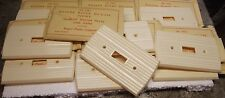 10 Vintage light Switch Plate Covers Light Switch Ivory Color 10 PIECES + SCREWS
