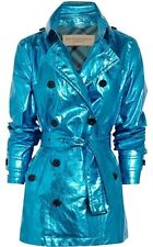 Burberry Brit Short metallic coated-cotton trench coat.MSRP $1,095 Size:14