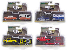 HITCH & TOW SERIES 9 SET OF 4 1/64 DIECAST MODEL CARS GREENLIGHT 32090 A-B-C-D