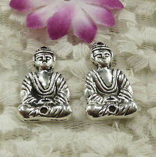 Free Ship 44 pieces Antique silver the Buddha connector 26x15mm #4580