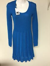 Authentic MISSONI sky blue dress size 44 made in Romania.